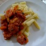 Pasta mit Salsiccia, Fenchel und Karotten